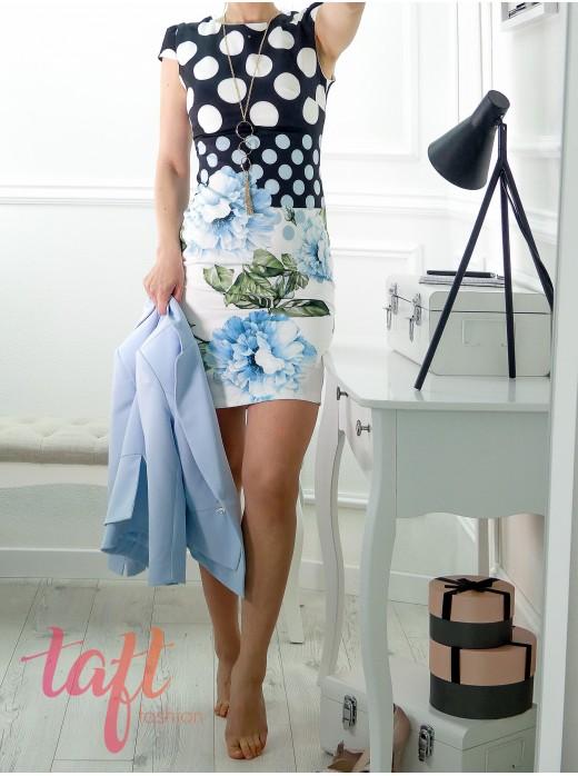 a4ae23c82c86 Puzdrové šaty s kvetinovým vzorom
