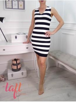 Zobraziť produkt · Čierno biele prúžkované šaty - elastické adb5c7b217e