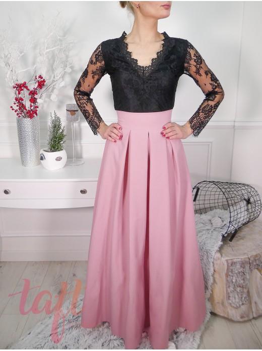 096523cde3d7 Púdrová dlhá sukňa s tylovou spodničkou.