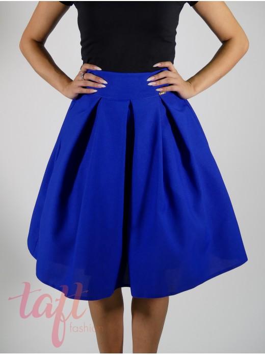 fa891fe5bdcd Skladaná sukňa so spodničkou s tylovým volánom - modrá
