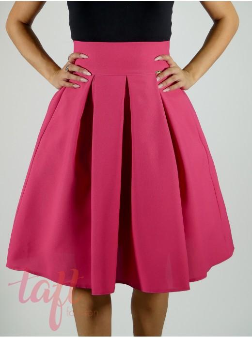 8459394579aa Skladaná sukňa so spodničkou s tylovým volánom - cyklamenová
